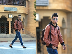 Espada Yassine - Jacket, Jeans - BRown
