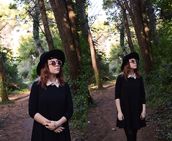 Min M - Stradivarius Hat, Stradivarius Sunglasses, Bershka Dress - Into the woods