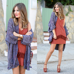 Helena Cueva - Fashion Pills Cardigan, Outfitfordesire Dress - Desire...