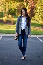 Kimberly Kong - Theory Jacket, Polo Shirt, Aeropostale Jeans, Castro Heels, Coach Bag - 8 Pieces, 8 Ways: Part 5