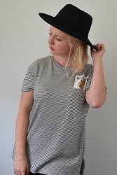 Toni - Urban Outfitters Hat, Zara Shirt - Where the sun and the mountains kiss
