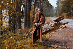 Zvezdelina Tsolova - H&M Coat, H&M Boots, Zara Leather Leggings - Far away from the urban vanity with Mint Stories...