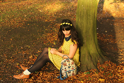Lauren Evans - Brick Lane Headband, Brick Lane Dress, China Bag, The Shoe Embassy Shoes, Primark Socks - Dreaming As The Summer Dies.