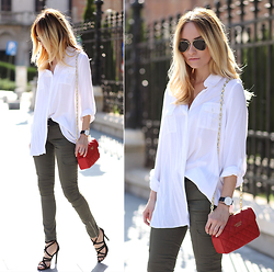 Silvia P. - Zara Shirt, Liu Jo Pants, Guess Purse, Zara Sandals, Zerouv Sunnies - Sunny days