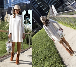 Ago Prime -  - White dress for the Milan Fashion week