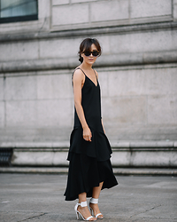 Diana Z Wang - Keepsake The Label Dress, Manolo Blahnik Sandals, Karen Walker Sunnies - Evening for Day