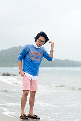 Adrian Leander - Ig Glasses, Gap Sweaters, Tailored Shorts - Pastel
