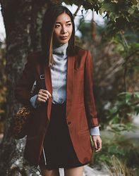 Stephanie Liu - H&M Blazer, Getting Back To Square One Skirt - Winter Wear