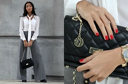 Konstanzia and Atusa Lechler - Zara Blouse, Zara Pants, Dkny Bag, Collection N°2 Boots, Dkny Watch - Chhhh...ic!
