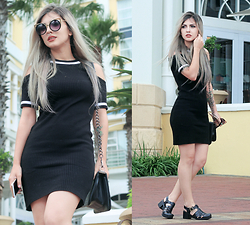 Lindsay Woods - Forever 21 Black Dress, Petite Jolie Jelly Sandals - The Table Bay