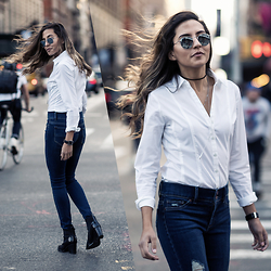Raquel Paiva - Ny&Company Shirt, Ny&Company Jeans - My Favorite Jeans This Fall