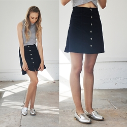 Christen Gerhart - Ag Jean Button Down Skirt - LA Heat