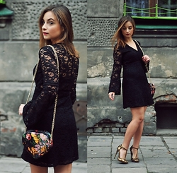Barbara Kucharska - Bershka Dress, Asos Heels - Black Lady