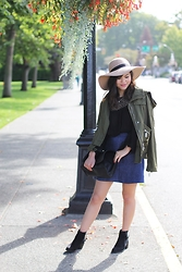 Olivia Yuen - Topshop Hat, Zara Top, Zara Jacket, Zara Bag, Zara Skirt, Zara Boots - Miles of Fall