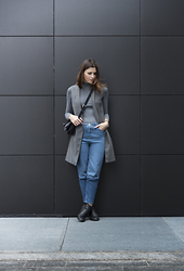Tina Gallo - Asos Two Tones Denim, Missguided Booties, Zara Long Vest - COME OVER THE DARK SIDE