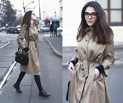 Anna Litichenko - Zara Coat, River Island Bag, Pull & Bear Boots - Second chance