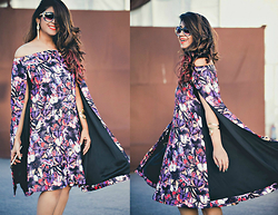 Surbhi Suri - Cape Dress, Wildflower.Inc Tassel Earrings - Cape it Smart