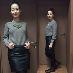 Olga T. - Mango Sweater, H&M Skirt - New look