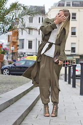 Joanne Christina Lewis - Girls On Film Silk Duster, Girls On Film Silk Trousers, Public Desire Heels - IS IT OK TO WEAR SILK ON SILK
