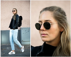 Kajsa Svensson - Cos Jeans, Ray Ban Sunglasses, Sandqvist Backpack, Adidas Sneakers - THE WORLD IS WATCHING