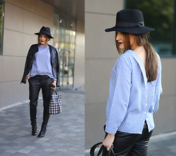 Sandra Bendre - Choies Shirt, Jessica Buurman Ankle Boots - How to wear striped shirt