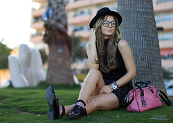 Cosmina M. //mbcos.net - Black Turtle Neck, Bag, Skirt, Shoes - Black is black