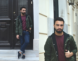 Elias Mamalios - Asos T Shirt, Asos Jean, New Look Shoes, Pull And Bear Jacket - Cozy Evenings