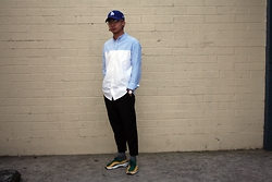 Dan Pantoja - Mlb La Dodgers Cap, I Love Ugly Contrast Button Up, I Love Ugly Black Kobe Pants, Nike Air Footscape Woven - GONG CHA Δ