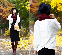 Anna Mour ♥ - Dressin Ivory Chunky Knits Sweater - Autumn Notes