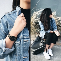 Tiffany Wang - Zara Jacket, Larssons & Jennings Watch, Adidas Sneakers, Céline Bag - DENIM JACKET