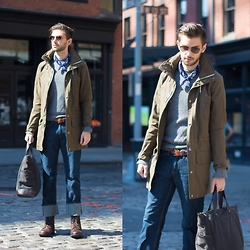Aaron Wester - Club Monaco Jacket, Timberland Boots, Timberland Denim - Off The Cuff