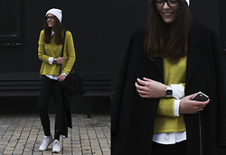 Anna Litichenko - Mango Sweater, Banana Republic Shirt, Reebok Sneakers - Life in Contrasts