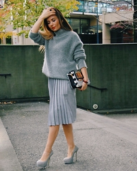 Aurela Lacaj - Alexander Wang Sweater, Forever 21 Skirt, Ysl Shoes - Shades of Gray!