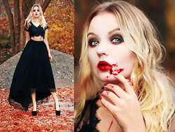 Elin Hansson - Hobbex & Panduro Theatre Blood, Skirt & Lace Top - I wanna do bad things with youuu