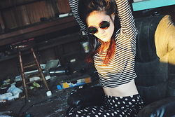 Gege Z - Striped Shirt, Forever 21 Pants, Sunglasses - WORLD PRINCESS PART II