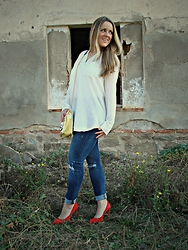Emma MAS - Choies Long Shirt, Bershka Jeans, Bershka Heels - LONG SHIRT