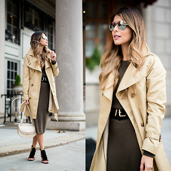 Pam Hetlinger - Forever 21 Sweater Dress, Chloé Crossbody Bag - Shades of Fall