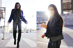 Ilirida Krasniqi - Fur, Belmondo Bag, Missguided Boots - Blur fur