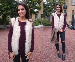 Julia - Pimkie Jumper, Pimkie Gilet, Topshop Jeans, Asos Shoes - PIMKIE PIECES