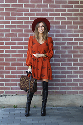 Ioana Carmen - Shein Dress, Choies Boots - Smile, autumn is beautiful!