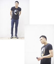Chris Su - Uniqlo Tee, Cheap Monday Jeans - As a Daft Punk-er