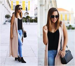Maria Inês Ribeiro - Boohoo Duster, Zara Cutout Boots, Zerouv Sunnies - As It Falls