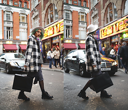 Gina Vadana - Underground Boots, Style Moi Coat, Young Hungry Free Skirt, Young Hungry Free Top - WHEN IN LONDON