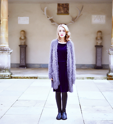 Evelyn Moon - Marks & Spencer Fluffy Cardigan, Asos Black Leather Chelsea Boots - Where the wild things are