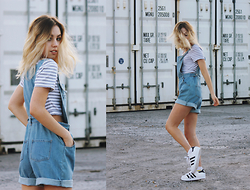 Isabella Wight - Minkpink Top, Adidas Sneakers, Its Boutique Overalls - Playdate