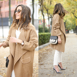 Besugarandspice FV - Sheinside Coat, Uterqüe Bag, Zara Shoes - Beige Coat