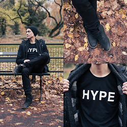 Chris Nicholas - Lookbook Hype T, Hitsu Zebra Socks, Cole Haan Boots, Forever 21 Denim, H&M Jacket - 171