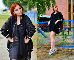 Daphny Might - Jennyfer Bomber, Nike Sneakers, Nina Ricci Light Dress - Simplicity
