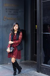 Olivia Yuen - H&M Vest, Zara Dress, Zara Bag, Dolce Vita Boots - Broadway Nuit