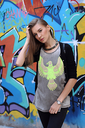 Diana Guţu - Casio Watches, Pull & Bear Necklace, Mango Cardigan, Atmosphere Top - Eagle Soul